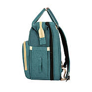 Сумка-рюкзак для мам і ліжечко для малюка Lesko 2 в 1 Aquamarine, фото 4