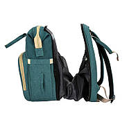 Сумка-рюкзак для мам і ліжечко для малюка Lesko 2 в 1 Aquamarine, фото 7