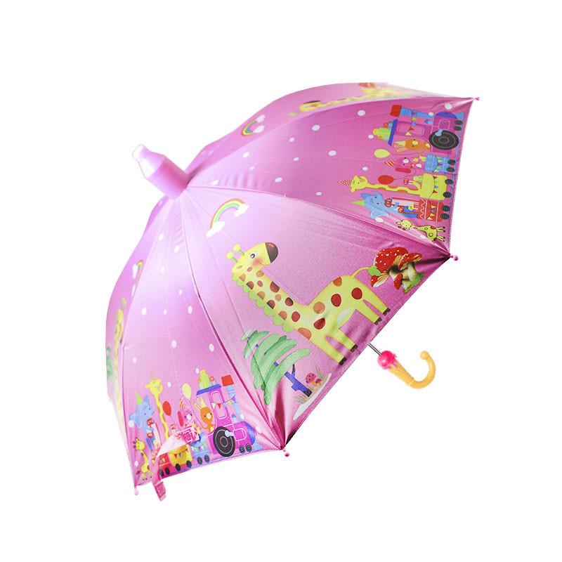 Детский зонт-трость Lesko QY2011301 полуавтомат Giraffe