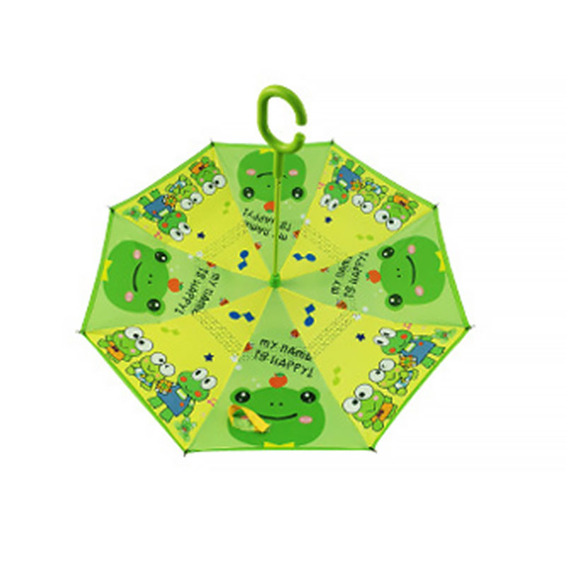 Детский зонт наоборот обратного сложения Up-Brella Frog-Green