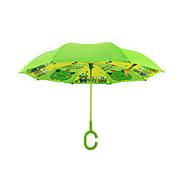 Детский зонт наоборот обратного сложения Up-Brella Frog-Green, фото 4