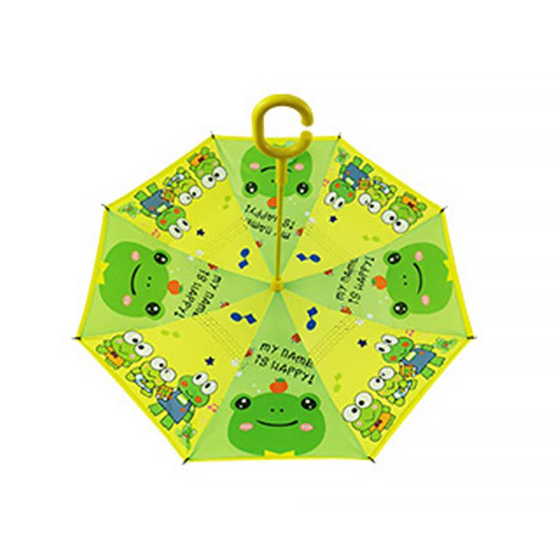 Детский зонт наоборот обратного сложения Up-Brella Frog-Yellow