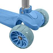 Дитячий складаний самокат триколісний 2 в 1 Lesko BAQ-518 Blue, фото 7