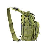 Рюкзак тактичний на одне плече AOKALI Outdoor B14 Green 6L, фото 2