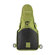 Рюкзак тактичний на одне плече AOKALI Outdoor B14 Green 6L, фото 3