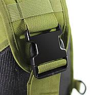 Рюкзак тактичний на одне плече AOKALI Outdoor B14 Green 6L, фото 5