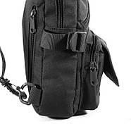 Рюкзак тактический на одно плечо AOKALI Outdoor A31 Black, фото 4