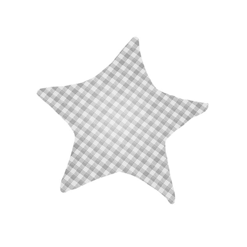 Дитяча бавовняна подушка Lesko AYBB-002 40*40 см Зірка в клітку