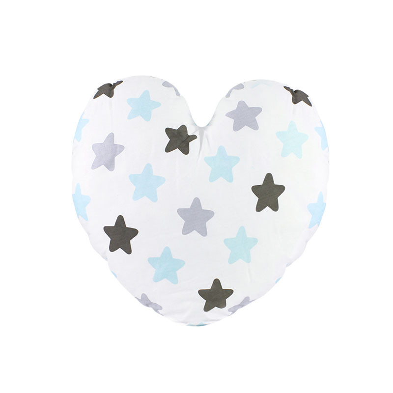 Детская хлопковая подушка Lesko AYBB-002 30*30 см Сердце в звездочку