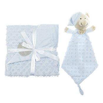 Плед с игрушкой-одеялом Interbaby Bubble Dou-Dou Bear Blue 110х80