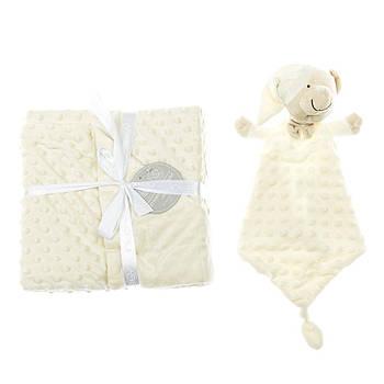 Плед с игрушкой-одеялом Interbaby Bubble Dou-Dou Bear Beige 110х80