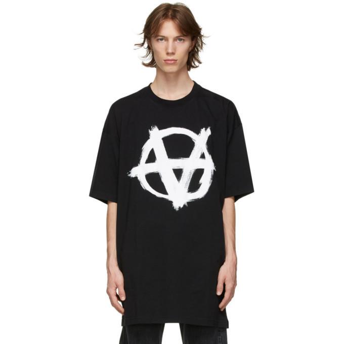 Футболка черная Vetements Anarchy B • Ветеменс футболка мужская   женская   детская
