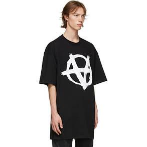 Футболка черная Vetements Anarchy B • Ветеменс футболка мужская   женская   детская, фото 2