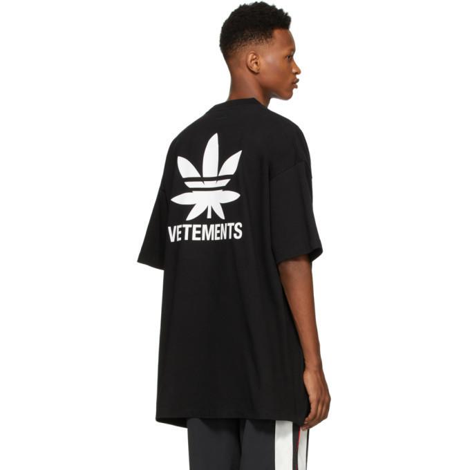 Футболка чорна Vetements Leaf • Ветеменс футболка чоловіча | жіноча | дитяча