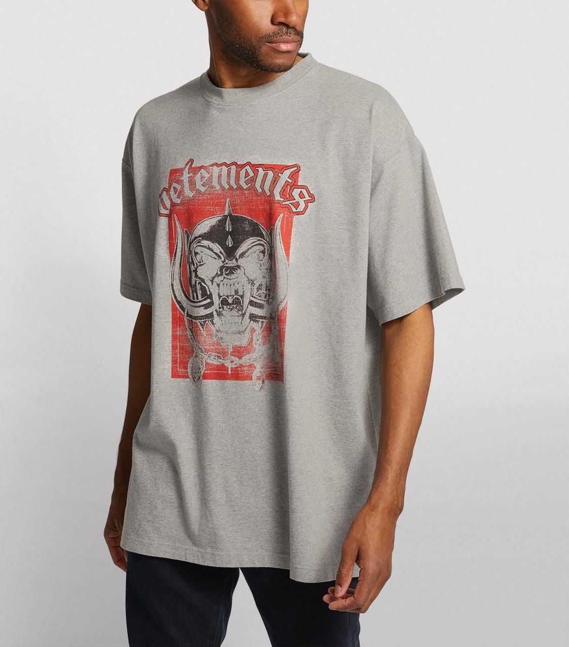 Футболка серая Vetements Motorhead • Ветеменс футболка мужская   женская   детская
