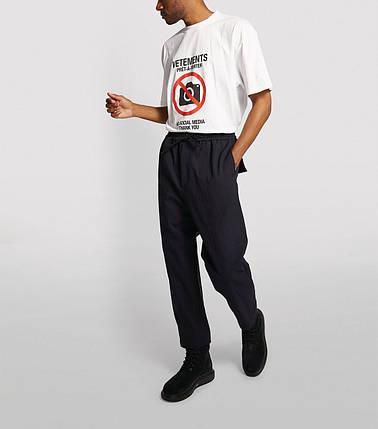 Футболка біла Vetements No Media • Ветеменс футболка чоловіча | жіноча | дитяча, фото 2