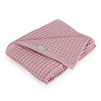 Плед Ceba Baby Waffle Line Silver Pink 90х90 см