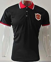 Мужская спортивная футболка поло, с воротником Манчестер Юнайтед, Адидас, 2019-2020 сезон, черная