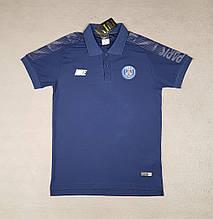Мужская спортивная футболка поло, ПСЖ, Джордан , синяя