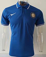 Мужская спортивная футболка поло, с воротником NEW 2020 Интер синяя
