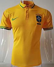 Мужская спортивная футболка поло, с воротником NEW 2020 Бразилия желтая