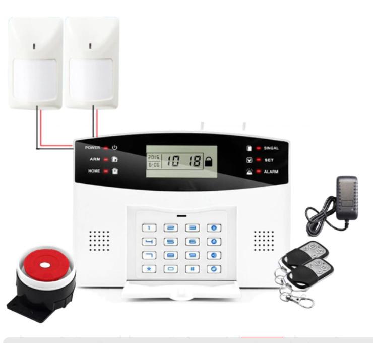 Полный комплект ПРОВОДНОЙ GSM сигнализации Kerui PG500 / B2G / GSM30А (комплект 2 ПРОВОДНЫХ датчика движения)