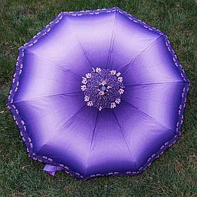 Зонт женский фиолетовый с орнаментом арт.802-14-7