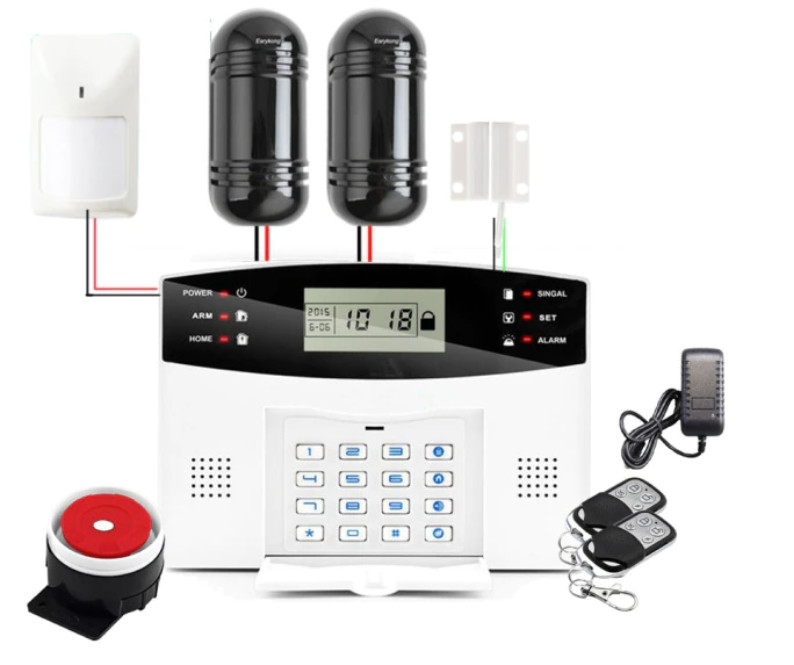 Полный комплект ПРОВОДНОЙ GSM сигнализации Kerui PG500 / B2G / GSM30А (комплект 4)