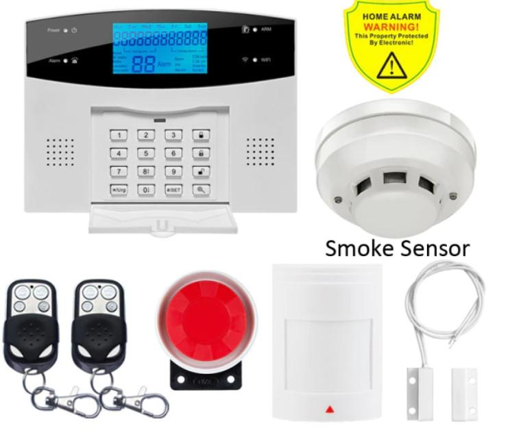 Полный комплект ПРОВОДНОЙ GSM сигнализации Kerui PG500 / B2G / GSM30А (комплект 9)