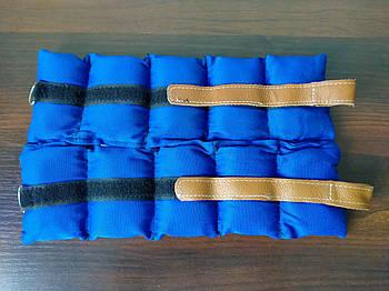 Обтяжувачі-манжети Шкіра (2 x 0,5 кг) (верх-NY, наповнювач-пісок)