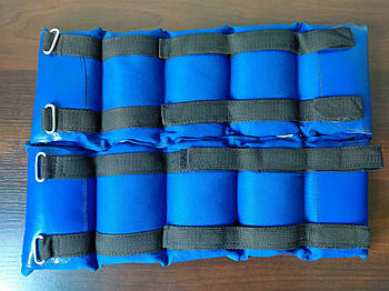 Обтяжувачі-манжети Нейлон (2 x 2,0 кг) (верх-NY, наповнювач-пісок)
