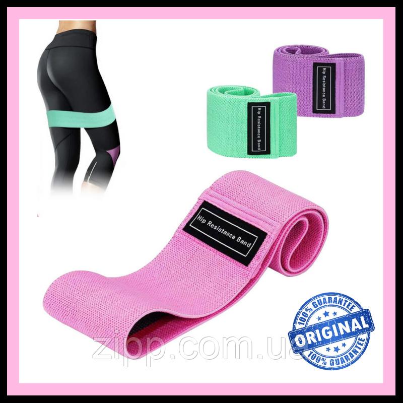 Гумка для фітнесу та спорту тканинна, Фітнес Гумки Zakerda Hip Resistance Band Комплект З 3 Штук