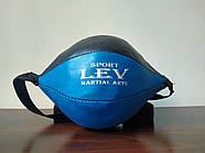 Груша 30х16см боксерська на розтяжках LEV, фото 5