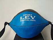Груша 30х16см боксерська на розтяжках LEV, фото 3