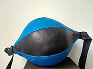Груша 30х16см боксерська на розтяжках LEV, фото 4