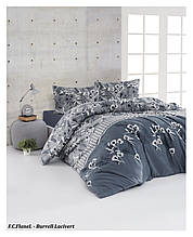 Комплект постельного белья из фланели евро размер ТМ First Choice Burrell Navy Blue