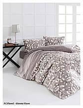 Комплект постельного белья из фланели евро размер ТМ First Choice Gianna Mink