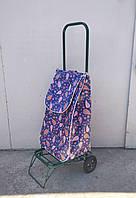 Усиленная хозяйственная сумка тележка на колесах с подшипниками (0086)