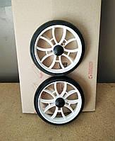 Запасные колеса (усиленные) для хозяйственной сумки тележки, диаметр 16 см., на ось 7-8 мм.