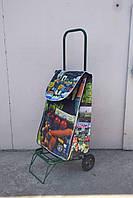Усиленная хозяйственная сумка тележка на колесах с подшипниками (0112)