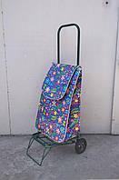 Усиленная хозяйственная сумка тележка на колесах с подшипниками (0114)