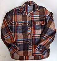 """Рубашка подростковая кашемировая в клетку на девочку 146-164 см(3цв)""""VANILLA""""недорого от прямого поставщика"""