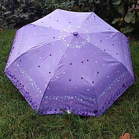 Зонт женский светло-фиолетовый с орнаментом арт.3013-8