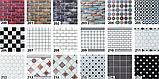 Самоклеюча вінілова плитка для підлоги і стін ПВХ матова 600х600х1,5мм, ціна за 1 шт. СВП-202-М, фото 8