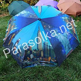 Зонт жіночий з рисуноком Місто Нью-Йорк арт 200а-1