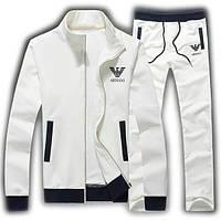 Спортивний костюм, чоловічий костюм Armani, білий костюм, трикотажний