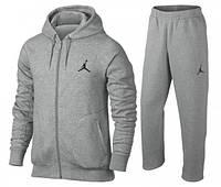 Спортивний костюм Джордан, чоловічий костюм Jordan, сірий, на блискавці, трикотажний