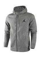 Спортивний костюм Джордан, чоловічий костюм Jordan, сірий на блискавці, трикотажний