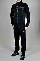 Спортивний костюм Найк, чоловічий костюм Nike, чорний, трикотажний