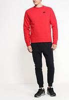 Спортивний костюм Найк, чоловічий костюм Nike, червона кофта, чорні штани, трикотажний